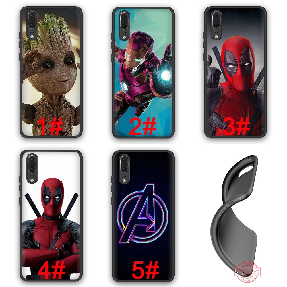Deadpool Iron Man Marvel Avengers Soft Case Huawei P10 P20 P30 Lite Pro Y6 Y7 Prime 2018 Y9 2019