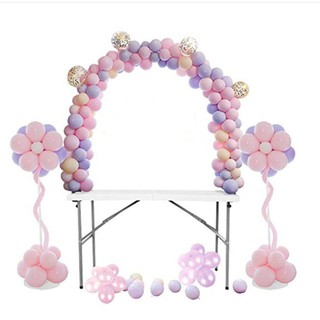 5M DIY Balloon Arch Kit Balloons Column Stand Frame Base Pole Ballons Clips Tape