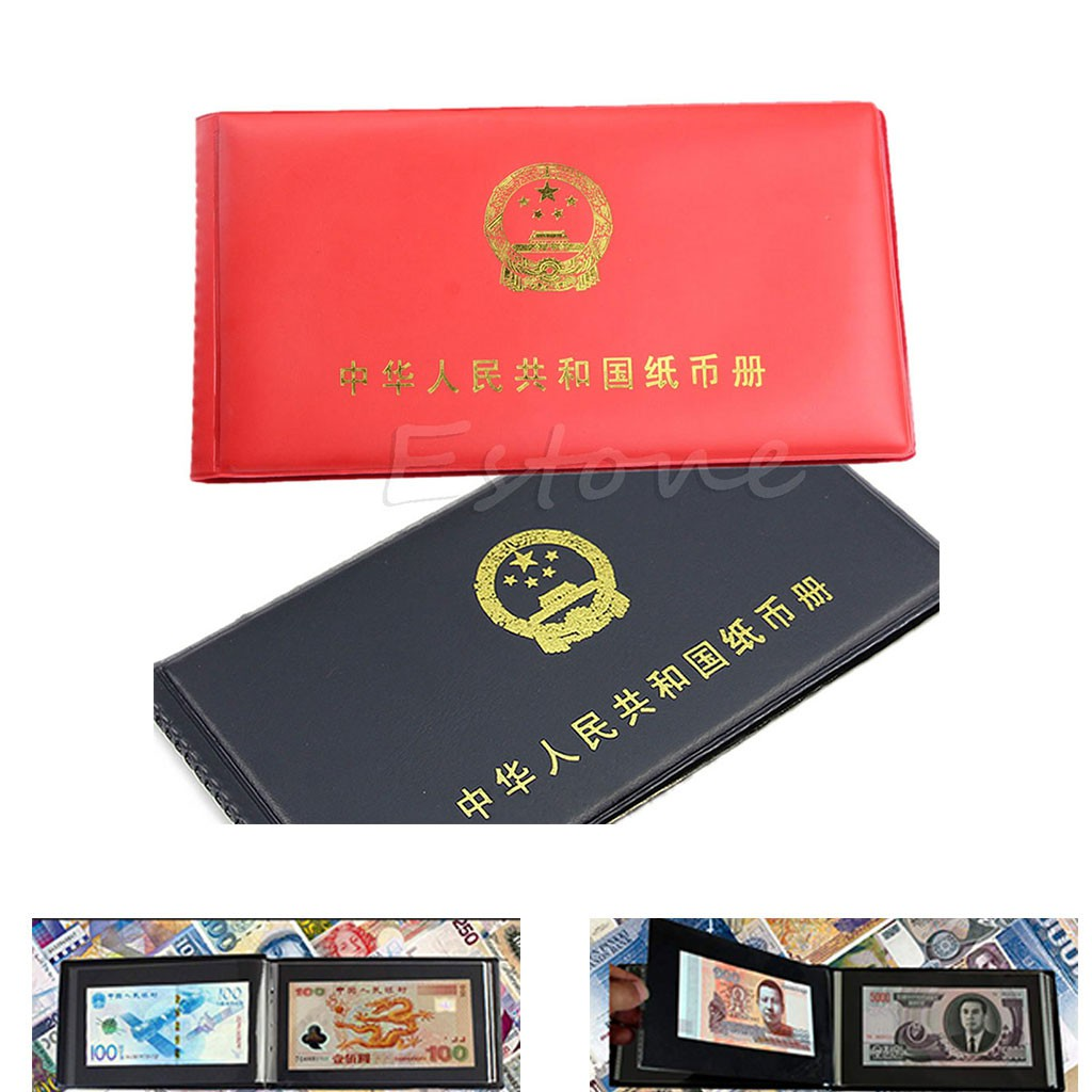 Top New Paper Money Collection Pockets Album Book Collecting