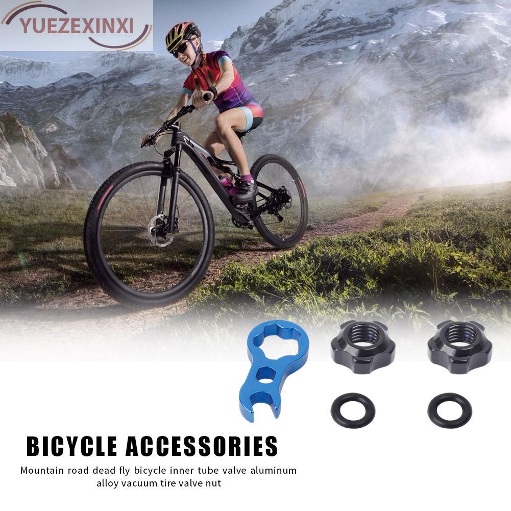 2pcs Bicycle Presta Valve Nuts with Wrench Washer MTB Bike Tool Kits Accessories