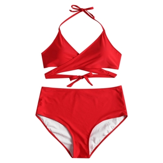 81bf610fbd ZAFUL Plus Size Leopard Tied Bikini Set | Shopee Philippines