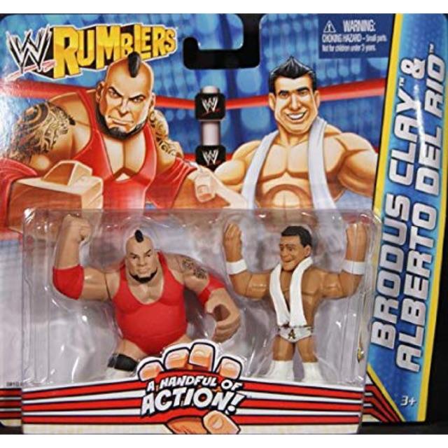 WWE Wrestling Rumblers Brodus Clay /& Alberto Del Rio