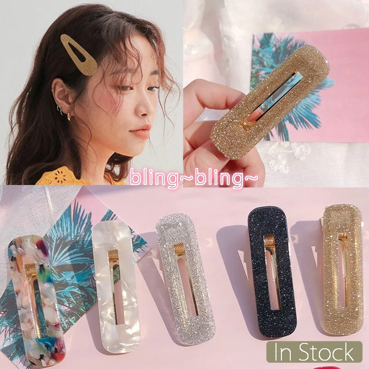 Fashion Crystal Women Leopard Resin Hair Snap Clip Slide Hairpin Barrettes Pin