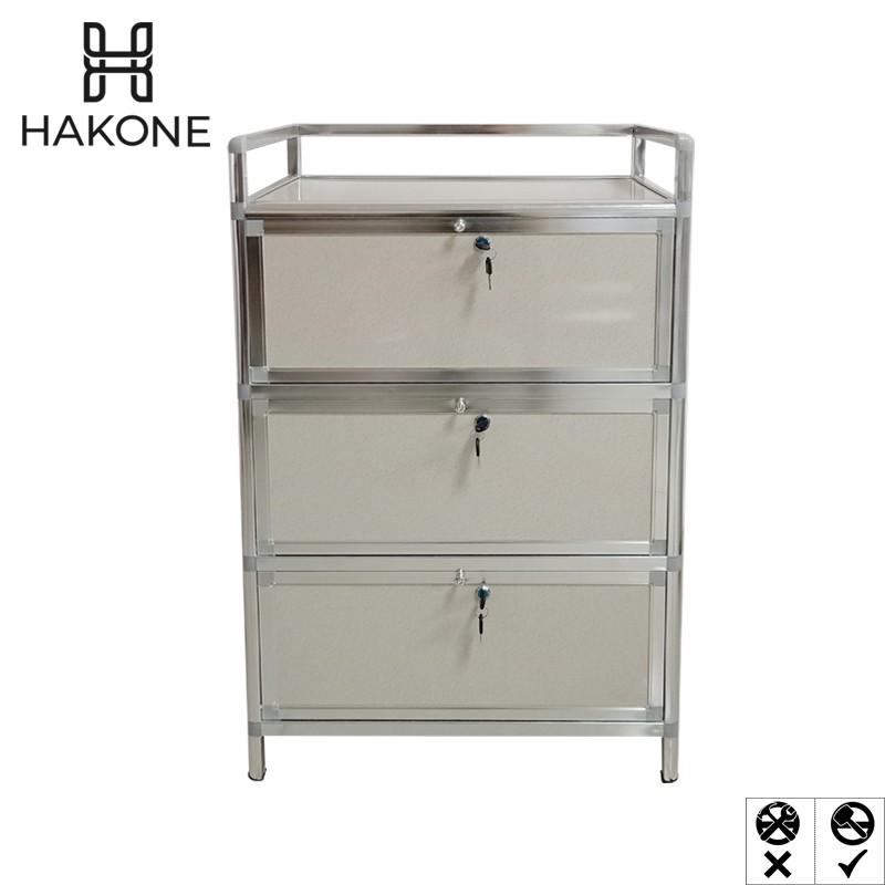 Hakone Aluminum 3 Layer Storage Cabinet