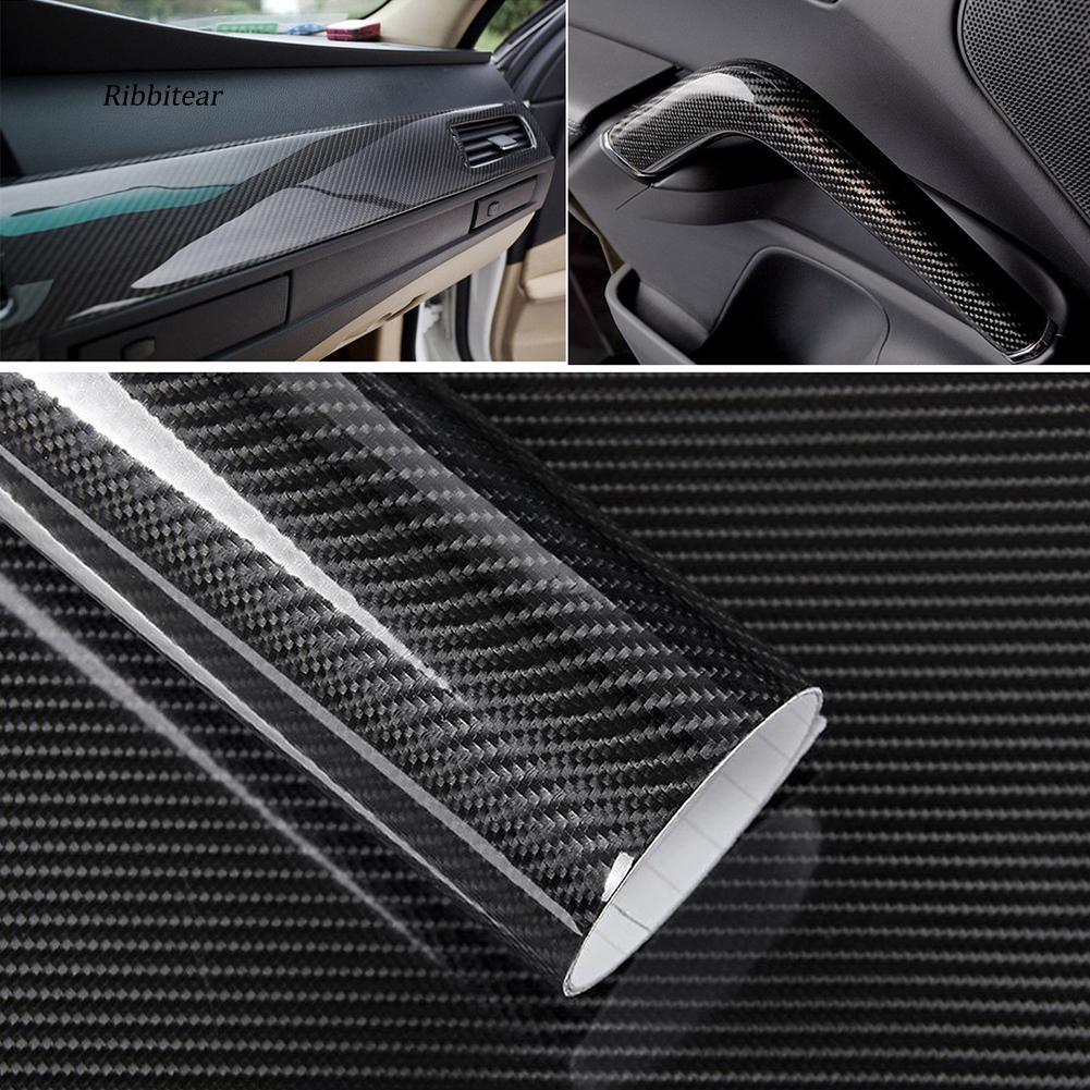 "5D Carbon Fiber Decal Car Color Change Film Protector Sticker Decoration 4/""x12/"""