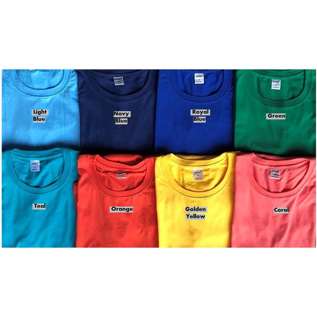 Gamer Brand Men S Plain Colored T Shirt 2 2 Shopee Philippines