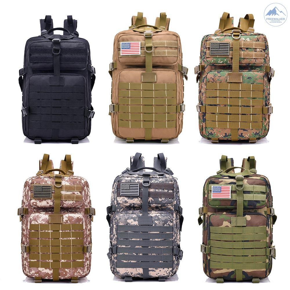 Oxford Waterproof Outdoor Molle Backpack Camping Hiking Rucksack Bug Out Bag