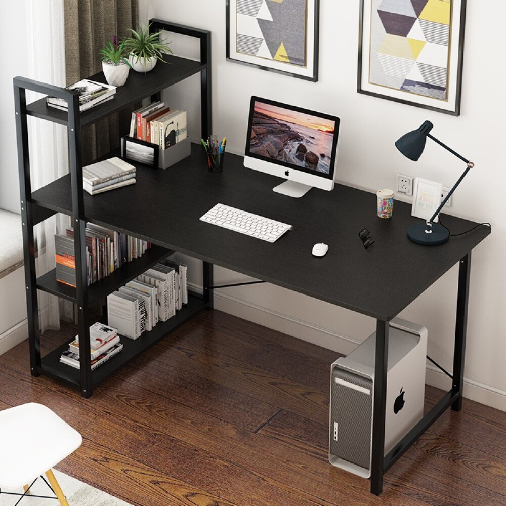 Wehome Computer Study Table Wood And Metal Computer Desk With Shelf For Home Office 120 60cm Shopee Philippines