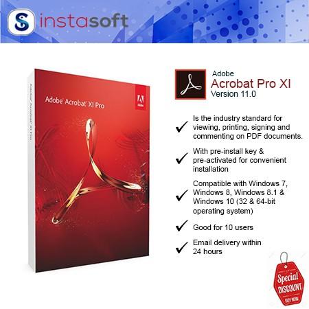 Adobe Acrobat Pro XI for Windows