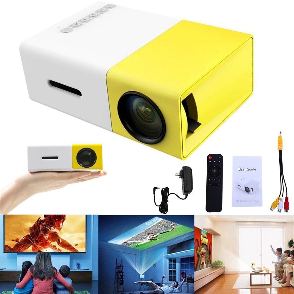Projector Mini Portable LED YG 300 Home Cinema YG-300 | Shopee ...