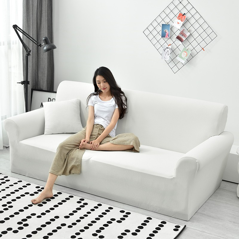 Stretch White Waterproof Sofa Covers