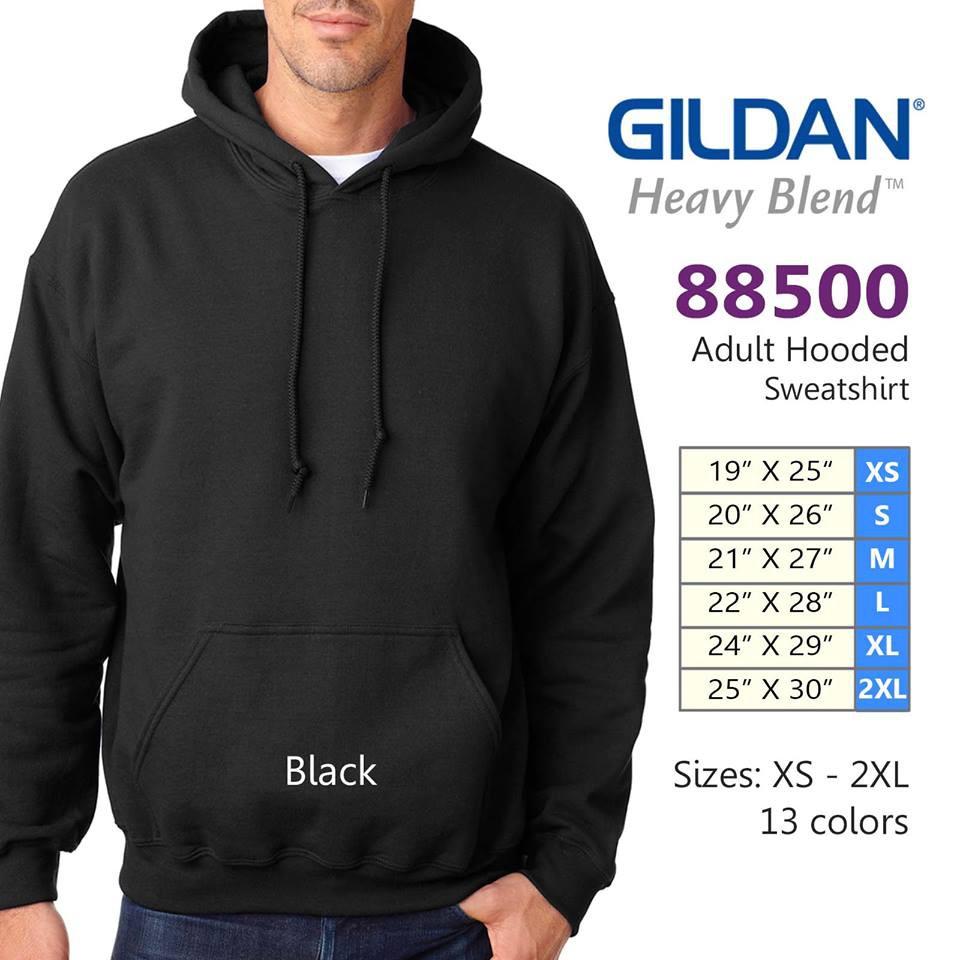 Gildan Pullover Hooded Sweatshirt Black
