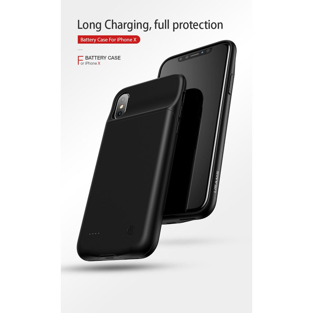 BATTERY CASE (USAMS) For iphone X, #COD