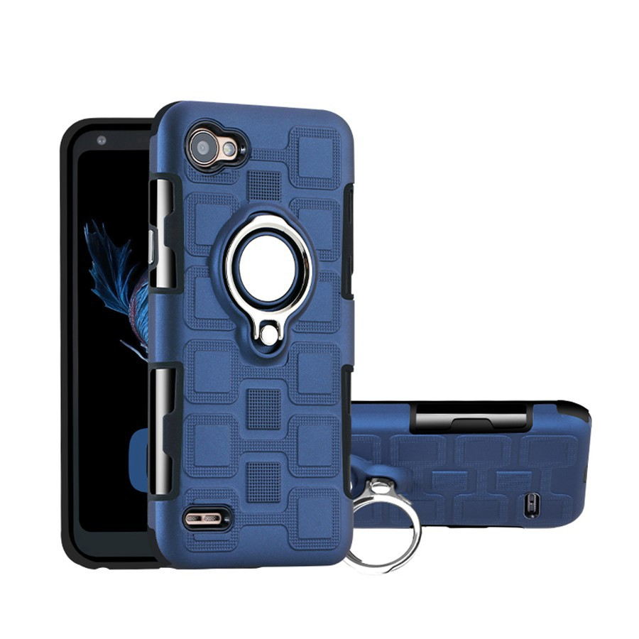 Lg Q6 Armor Metal Ring Rotation Bracket Tpu Pc Phone Case L80 Dual D380 Black Free