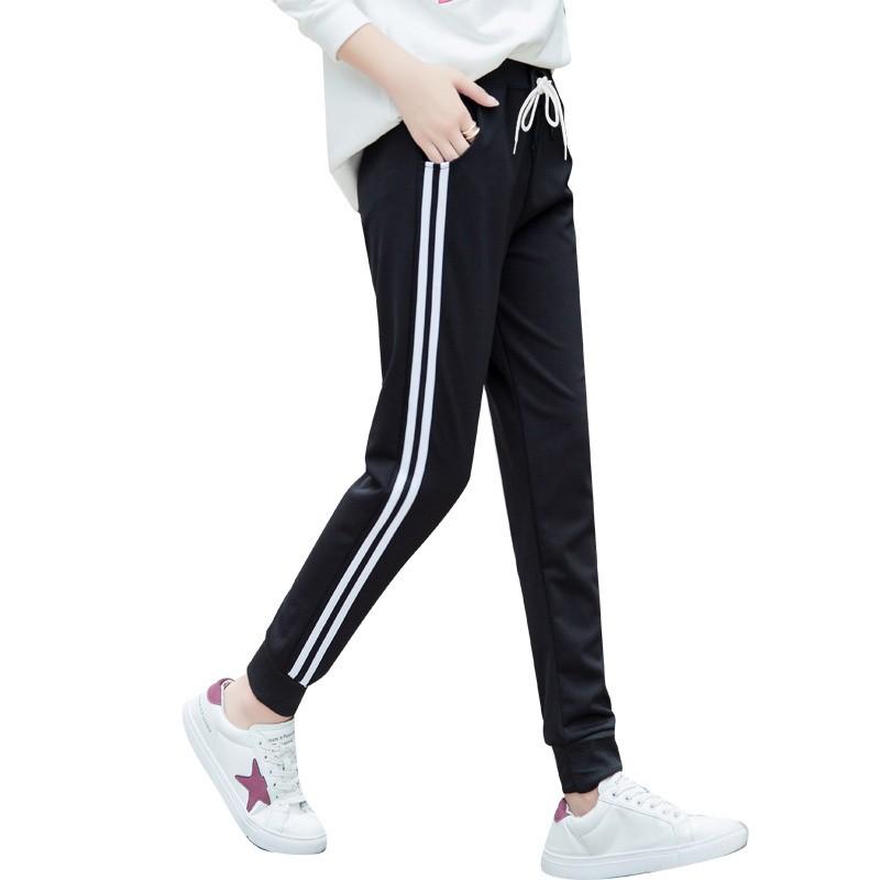 Korean Dual Stripe Unisex Jogger Pants Fleece Track Pants  bde748e1eb27c