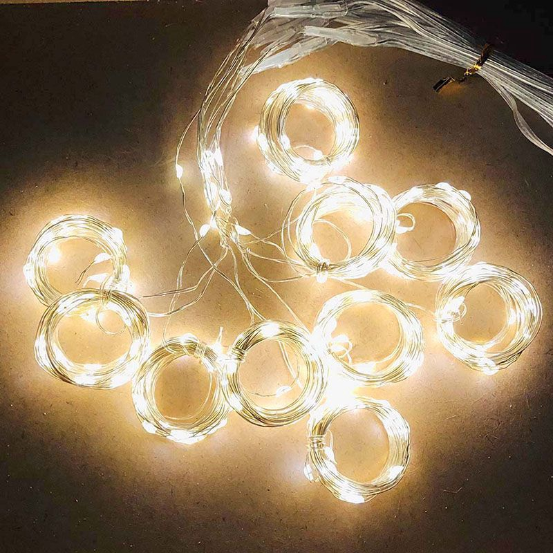 300LED//10ft Curtain Fairy Hanging String Lights Home Wedding Party 8 Modes USB