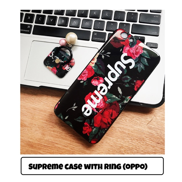 Supreme Case with Ring for Oppo Neo 7 9 A39 F1S F3 / Plus | Shopee Philippines
