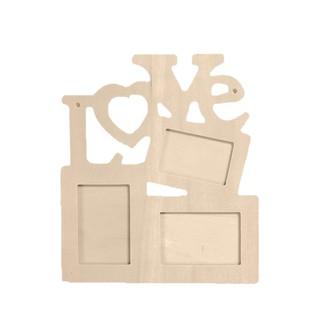 Home Wider Hollow Love Wooden Photo Frame DIY Picture Frame Art Craft Decor Jj