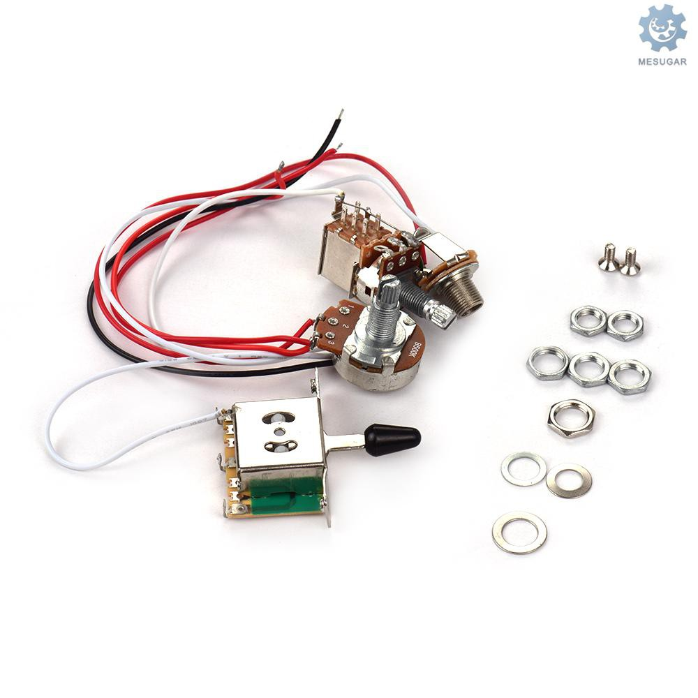 Electric Guitar Wiring Harness Kit Replacement With 1 Volume 1 Tone 500k 3 Way Toggle Switch Shopee Philippines