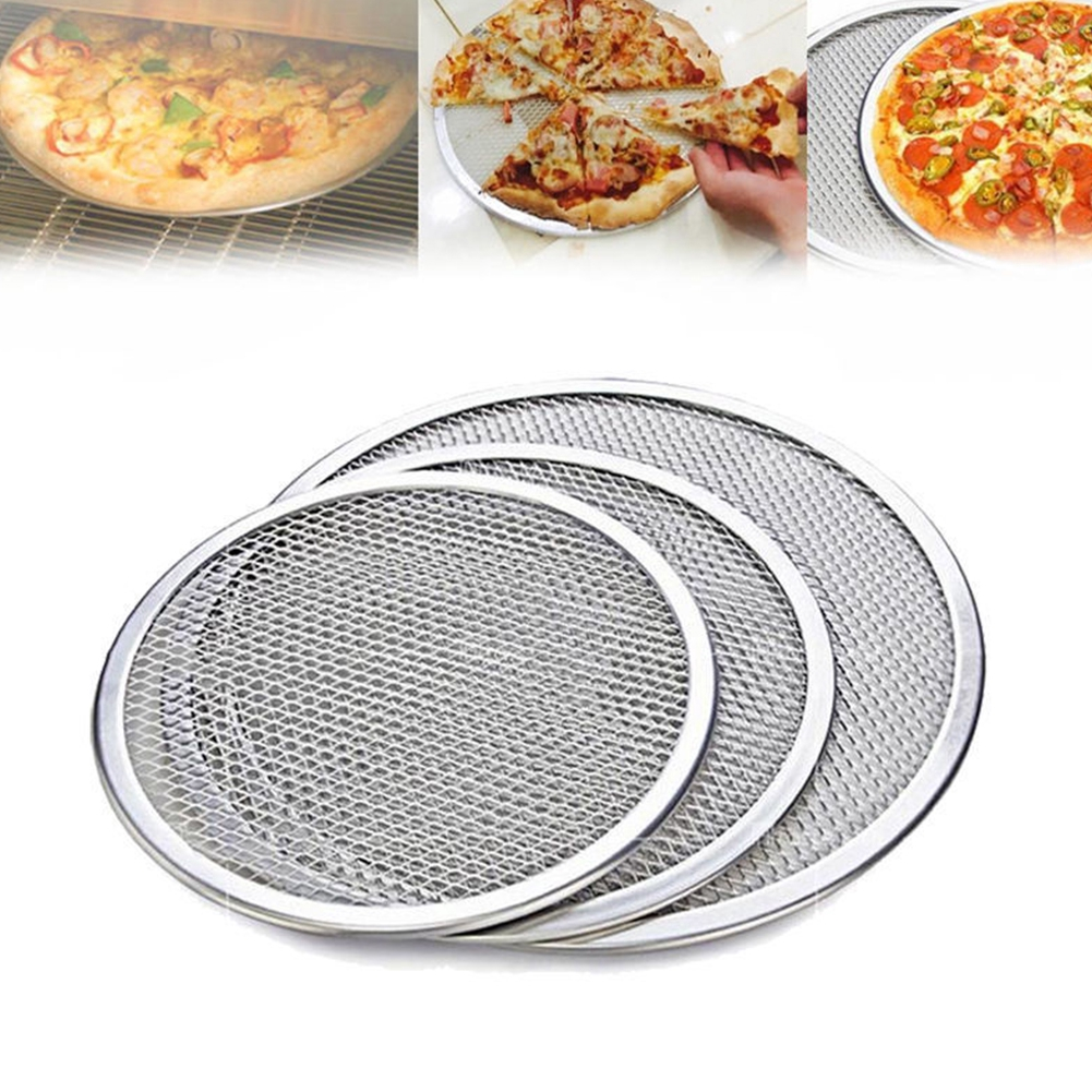 Aluminum Mesh Grill Pizza Screen Round Baking Tray Net Kitchen Tools Ovens Kit