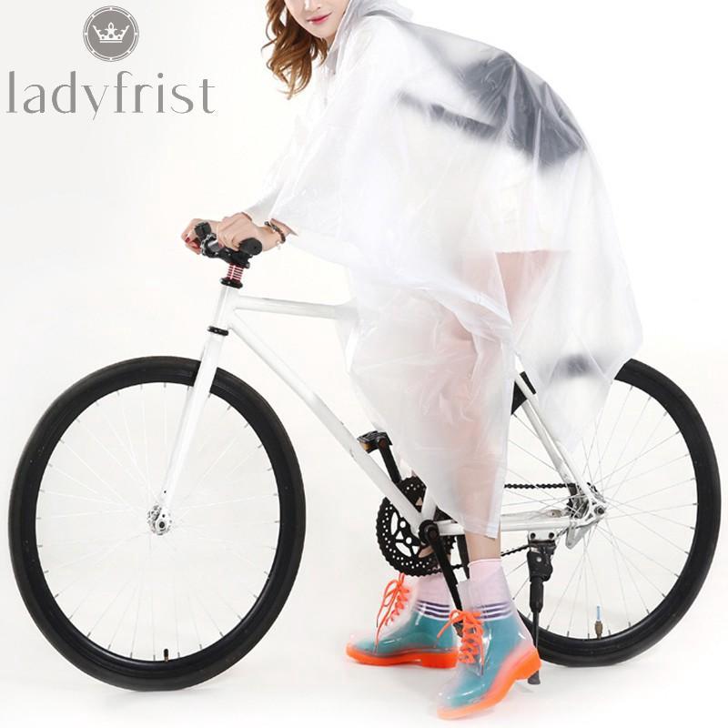 Blue Cycling Rainproof Raincoat Bike Bicycle Poncho Rain Cape Gear For Audlts