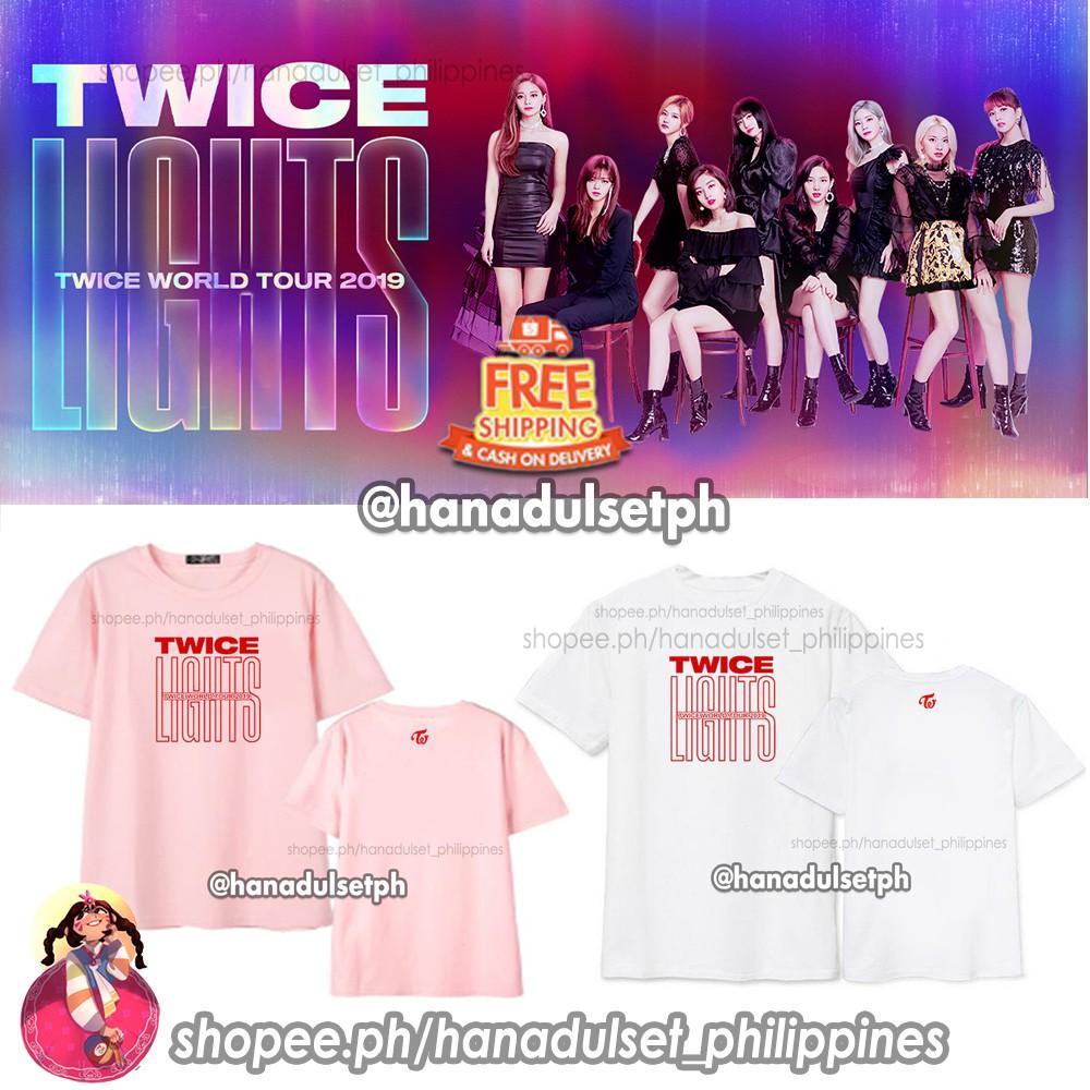 Twice Lights World Tour 2019 Tshirts Shopee Philippines