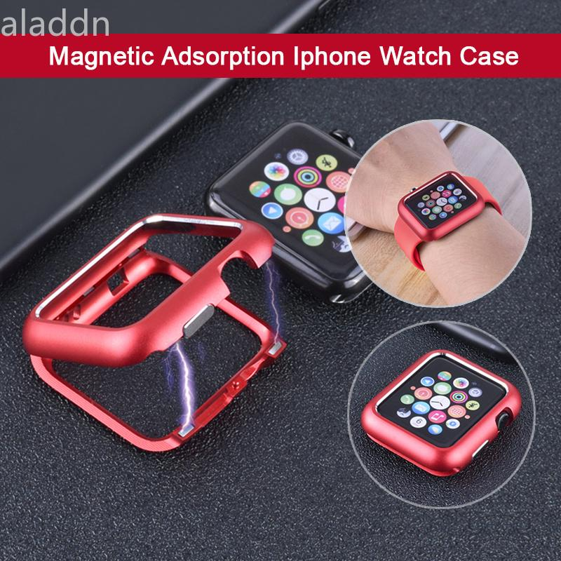 huge discount 6409b a2bb3 Magnetic Apple Watch Case Bumper 38 40 42 44 mm | Shopee Philippines