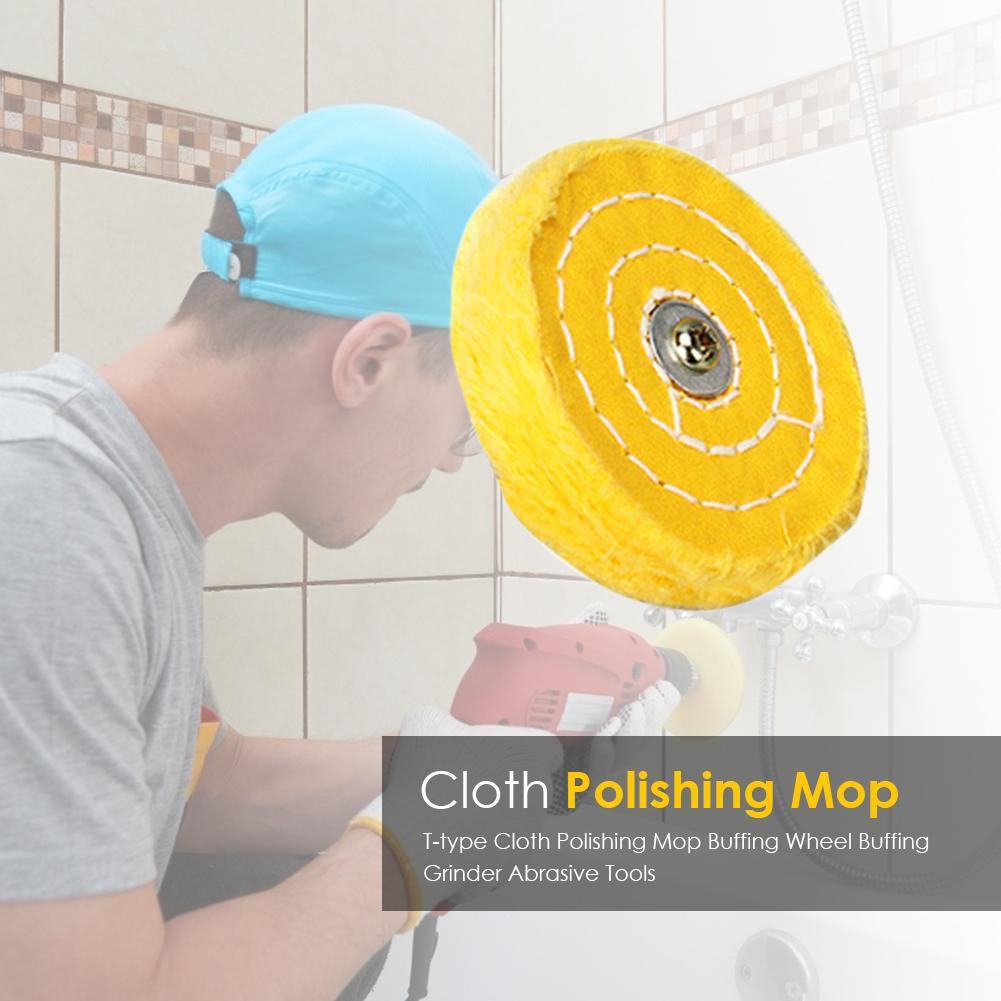 ♫kin T-type Cloth Polishing Mop Buffing Wheel Buffing Grinder Abrasive Tools