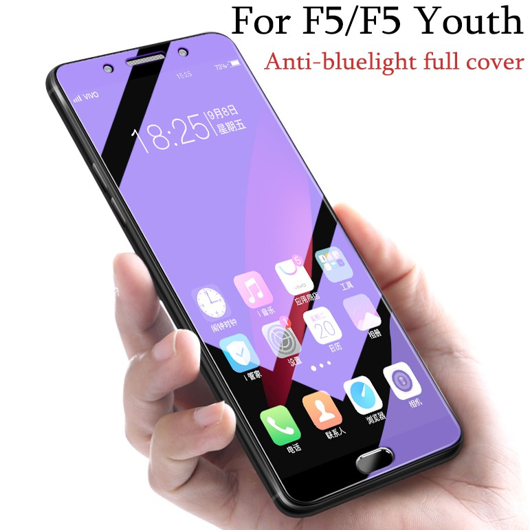 F5 Youth ZYS Screen Protector 25 PCS AG Matte Anti Blue Light Full Cover Tempered Glass for Oppo A73