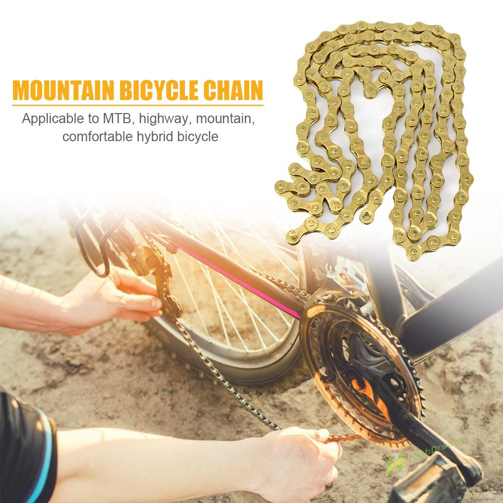 Keenso Bicycle Chain High Strength 116 Links 6//7//8 Speed Bike Chain Mountain Bike Derailleur Chain