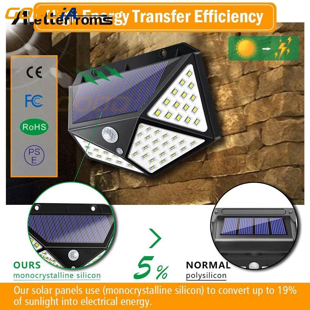 Solar Light Outdoor Solar Lamp PIR Motion Sensor Wall Light Waterproof for Garde