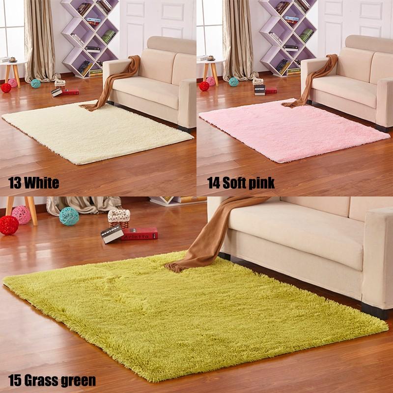 Soft Shaggy Area Rug Living Room Bedroom Carpet Floor Mat