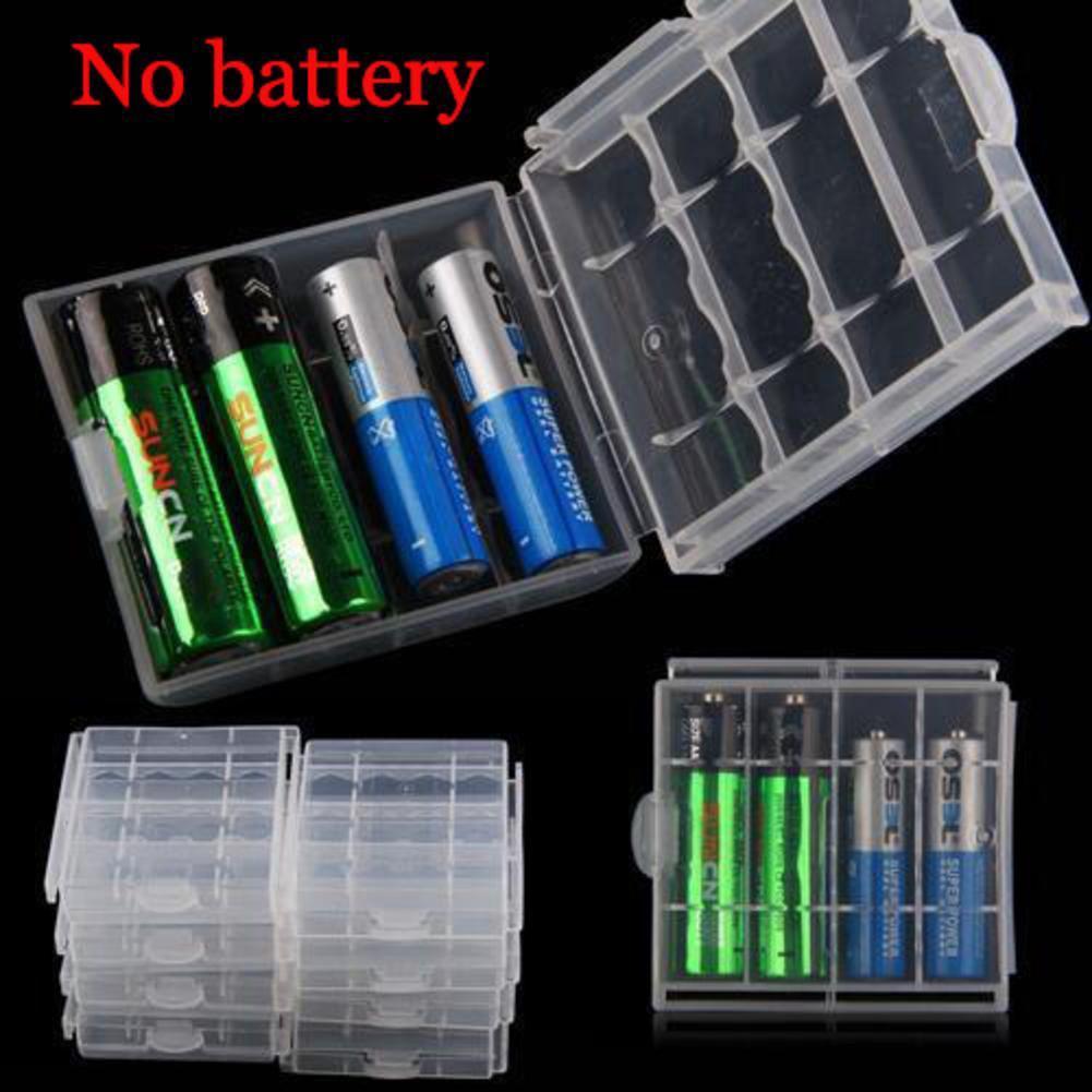 Hard Plastic 4 Pcs Case Cover Holder AA AAA Battery Storage Box Hot Sale