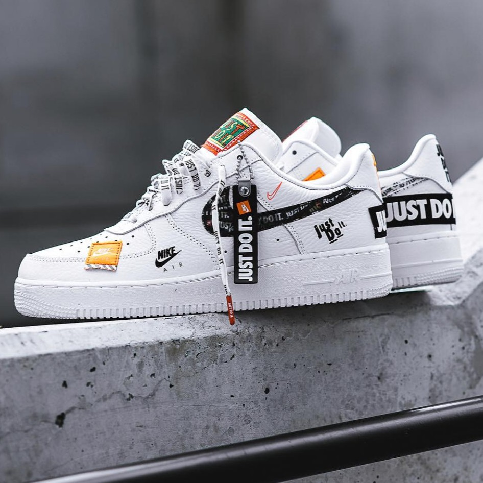 "limited guantity available amazing price Nike Air Force 1 07 PRM""Just Do It""Sport NBA Shoes 