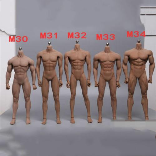 1//6 Model Black Man Male Super-Flexible Wide Shoulder Body Doll figure action