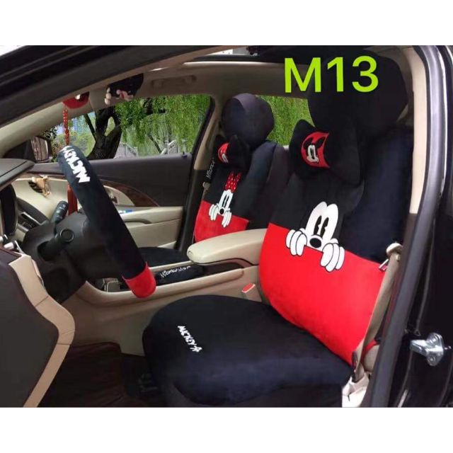 Mickey Mouse Car Seat Cover Set Shopee Philippines