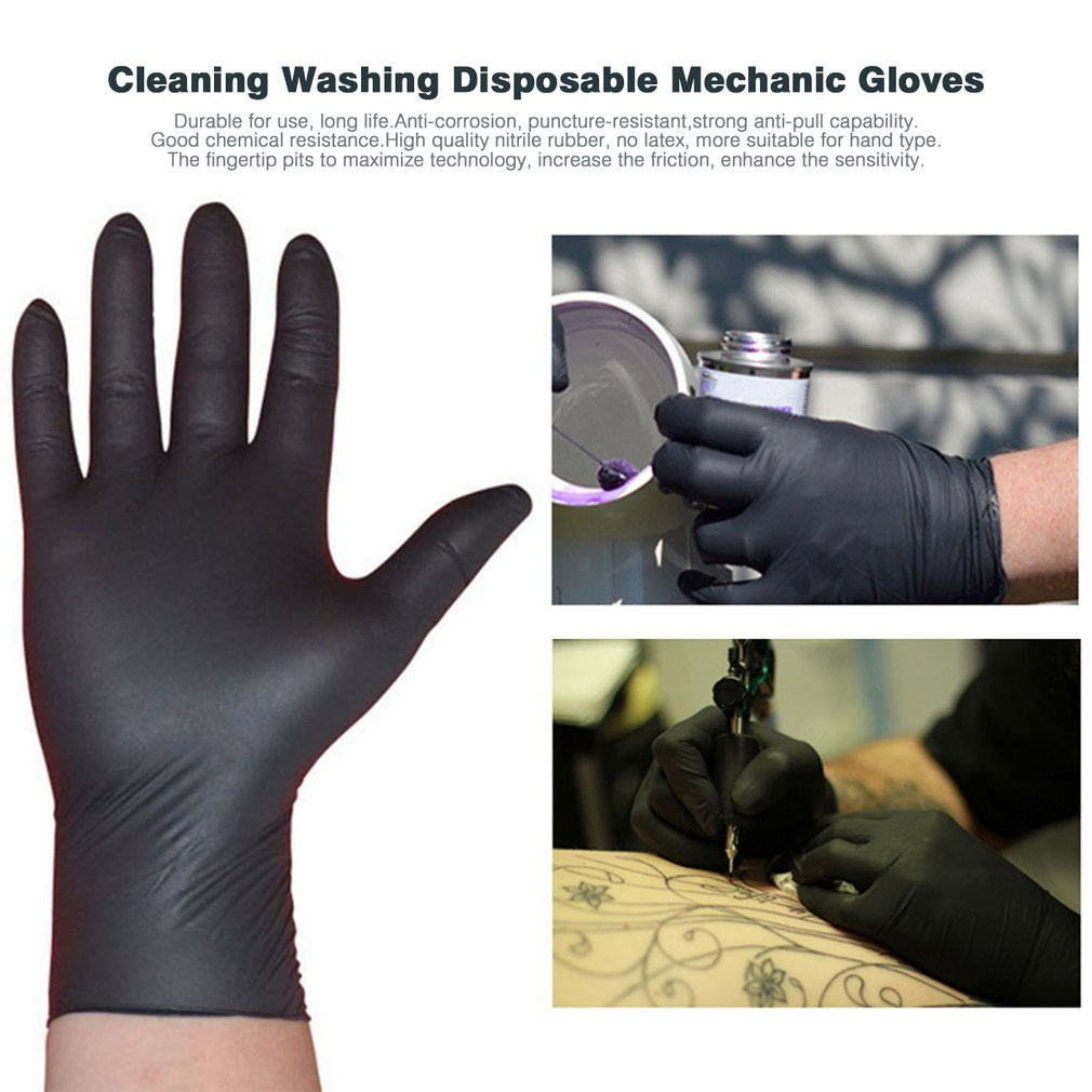 1 DOZ BLACK NITRILE EXAM GLOVES from USA (READ FIRST)   Shopee ...