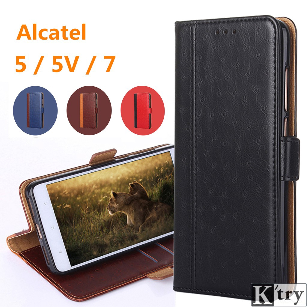 Alcatel 5/Alcatel 5V/Alcatel 7 Crystal grain Flip Soft cover Leather Case