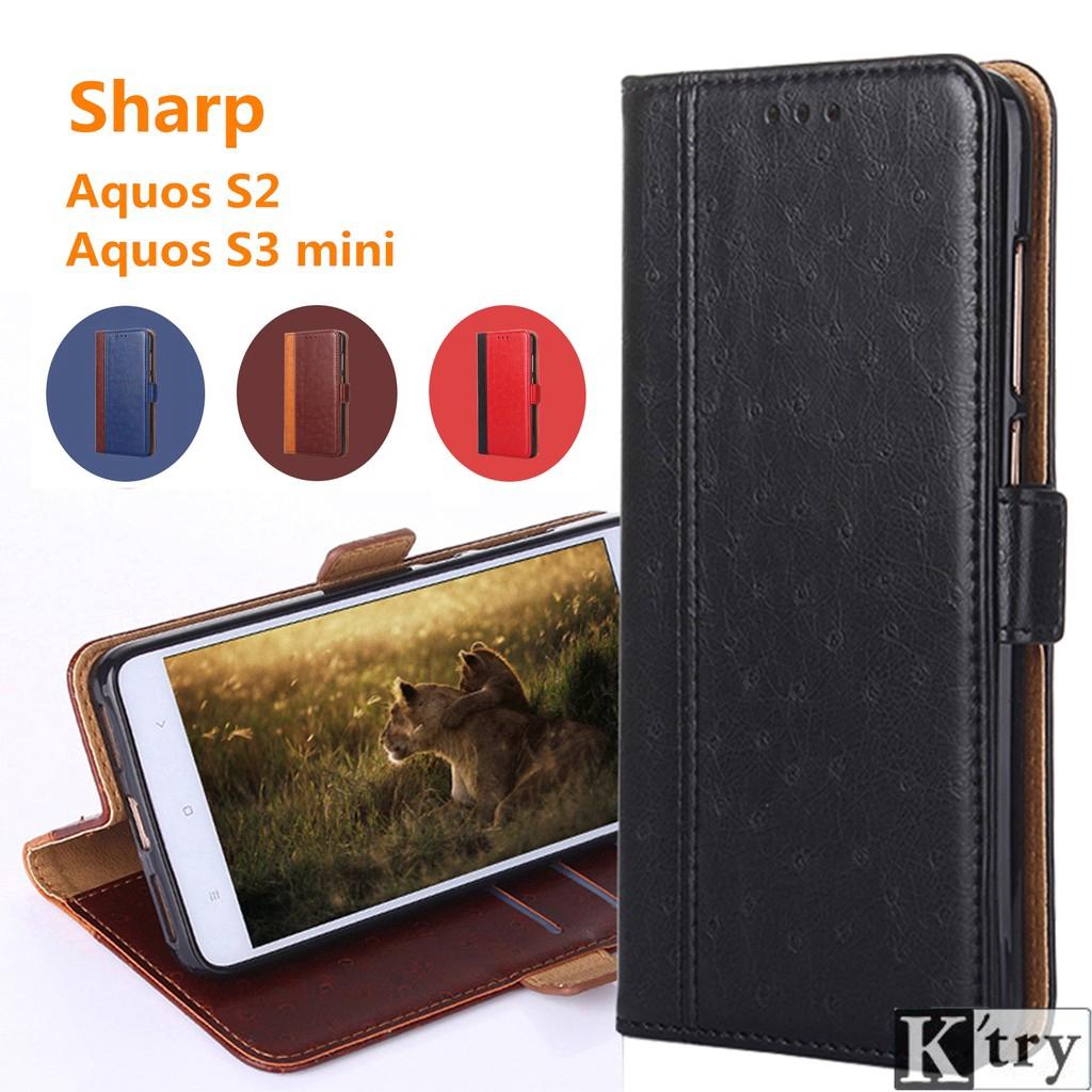 Sharp Aquos S2/Sharp Aquos S3 mini Crystal grain Flip Soft cover Leather  Case