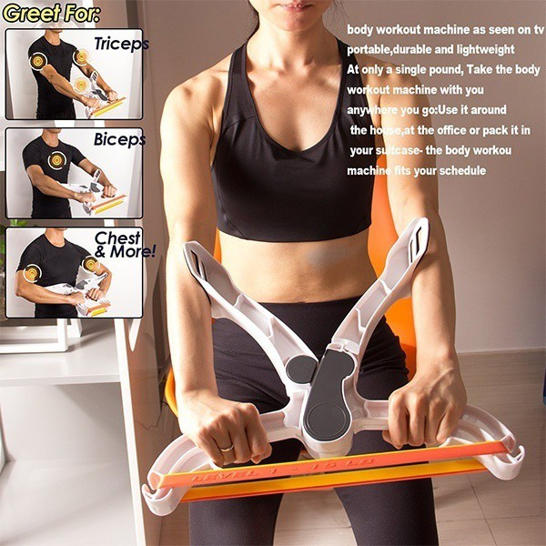 Body Arm Workout Fitness Machine With 3 Resistance Band For You