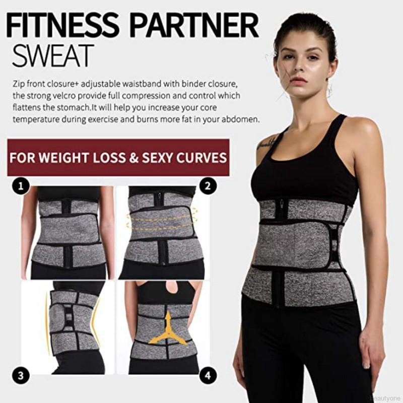 SHAPERIN Neoprene 3 in 1 Waist Trimmer Trainer Belt Hot Sweat Wasit and Thigh Trainer Butt Lifter Hips Trimmer Shapewear for Workout