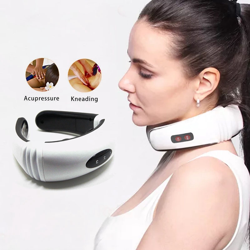 ❥(^_-)Electric pulse back and neck massager pain relief tool | Shopee  Philippines