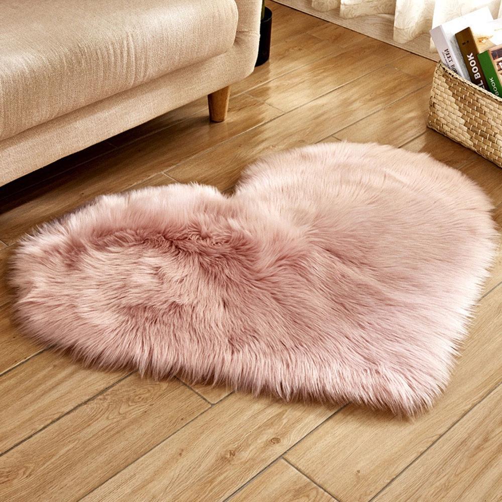 Wool Sheepskin Rug Faux Fur Bedroom