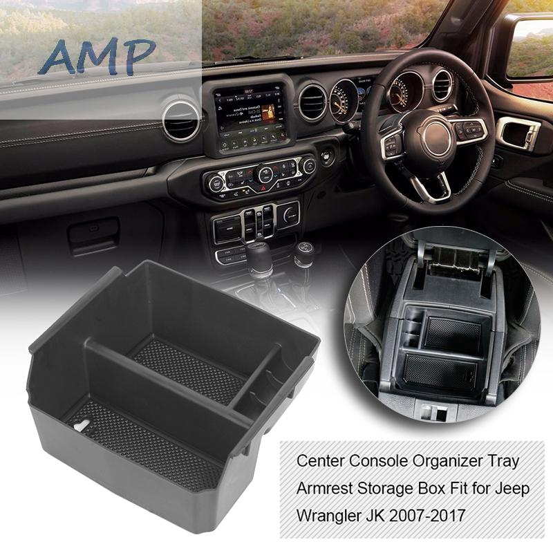 Center Console Organizer Tray Armrest Storage Box Fit for Jeep Wrangler JK 2007-2017