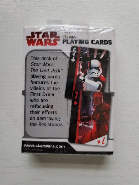 The Force Awakens 3 Deck Set First Order in Embossed Resistance vs Star Wars