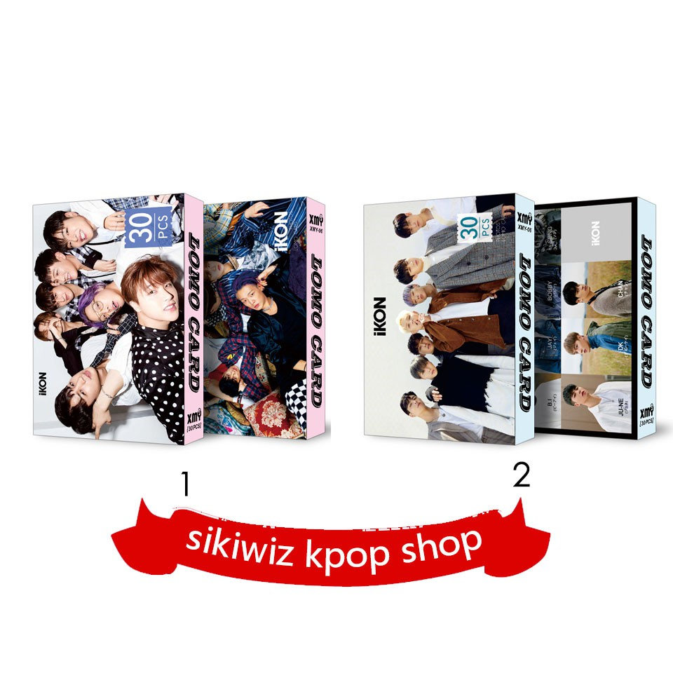 New! Sikiwiz ikon Lomo Card ikon Fashion Kpop Lomo Card