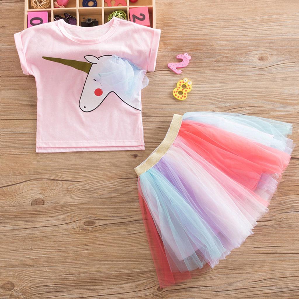 b91c9f18c2c33 Baby Girl Kids Unicorn Party 1st Birthday Rainbow Tutu Sets | Shopee ...