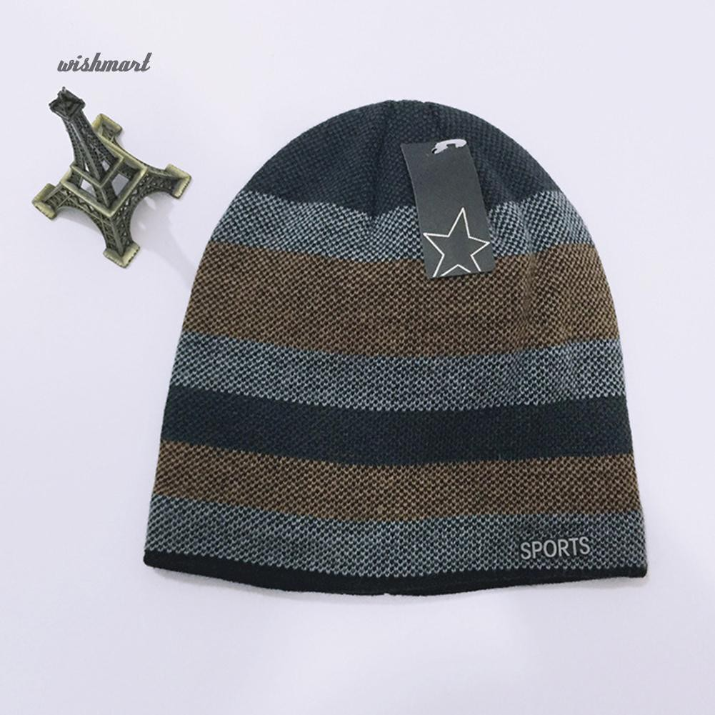 72ee109c1af9e3 ☀WISH Men's Fashion Knit Crochet Baggy Beanie Hat Winter Warm Cap for  Outdoor Riding | Shopee Philippines