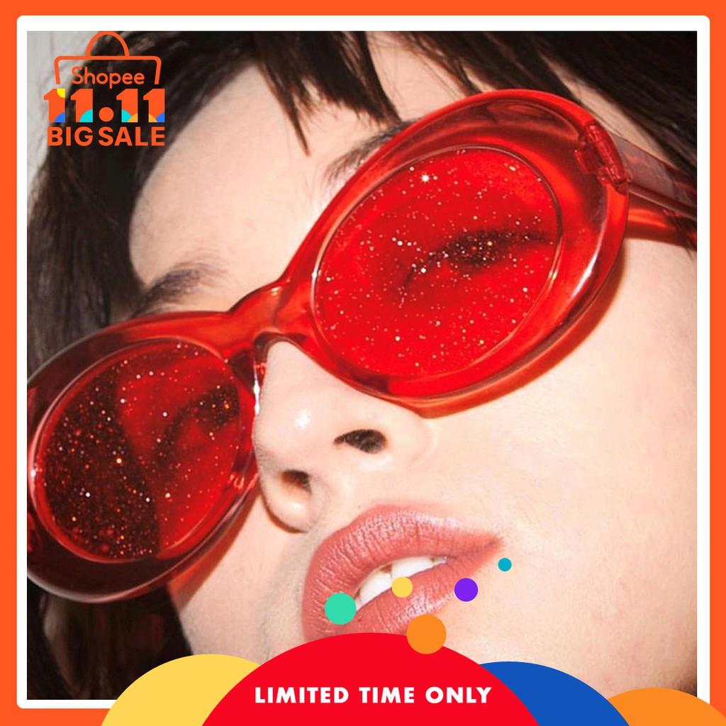 2e29013390 Rock Clout Goggles Oval Round Pop Black Lenses Sunglasses