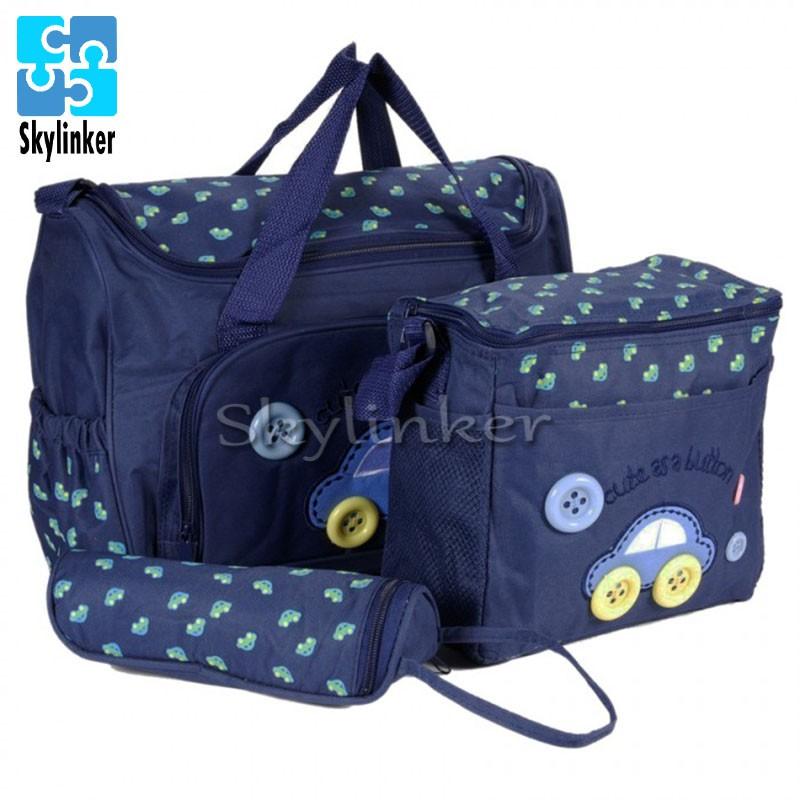 skylinker Mommy Baby Cute Diaper Bag 4 in 1 Set baby bag